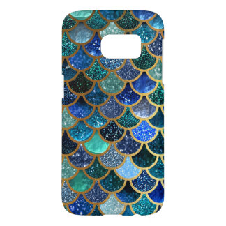 Luxury glitter Blue Teal Mermaid scales