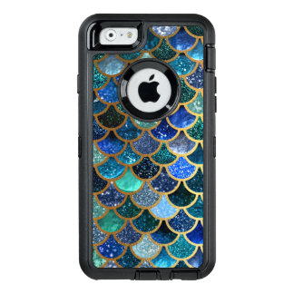 Luxury glitter Blue Teal Mermaid scales OtterBox iPhone 6/6s Case