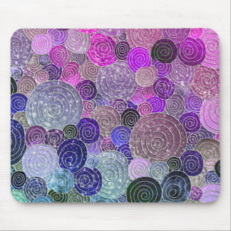 Luxury Glitter Dots and Circles - colorful purple Mouse Pad