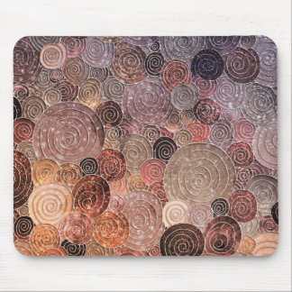 Luxury Glitter Dots and Circles - Warm Brown Mouse Pad