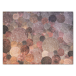 Luxury Glitter Dots and Circles - Warm Brown Tissue Paper