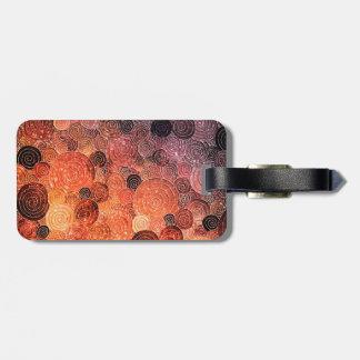 Luxury Glitter Dots and Circles - Warm Orange Luggage Tag