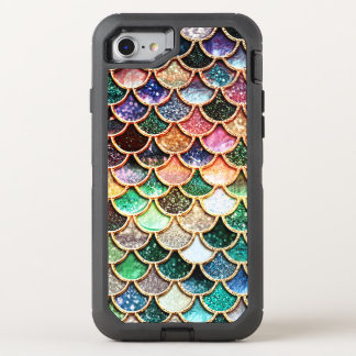 Luxury Glitter Mermaid Scales - Multicolor OtterBox Defender iPhone 8/7 Case