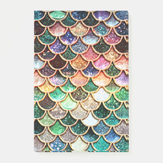 Luxury Glitter Mermaid Scales - Multicolor Post-it Notes