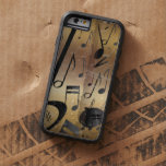Luxury Gold and Black Music Notes Tough Xtreme iPhone 6 Case