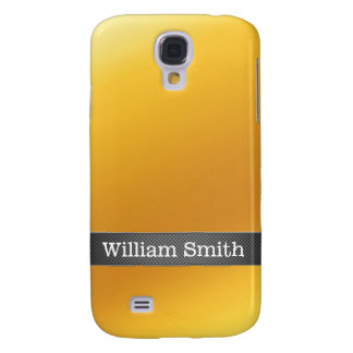 Luxury gold and carbon business samsung galaxy s4 case