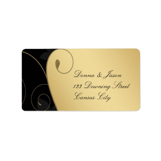 Luxury Gold-Black Address Label
