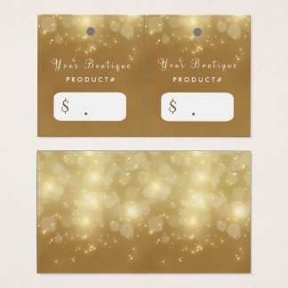 Luxury Gold Bokeh Glamour Boutique Hang Tags Business Card