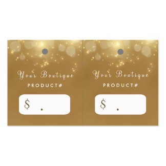 Luxury Gold Bokeh Glamour Boutique Hang Tags Pack Of Standard Business Cards