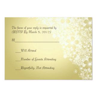 Luxury Gold Floral Spring Blanket RSVP card Invitation
