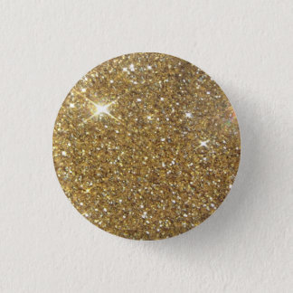Luxury Gold Glitter - Printed Image 3 Cm Round Badge