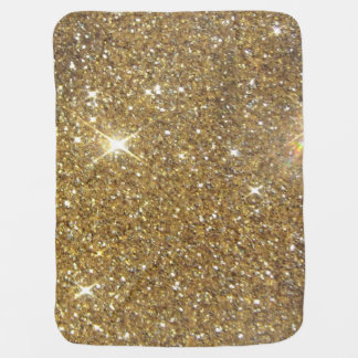 Luxury Gold Glitter - Printed Image Baby Blanket