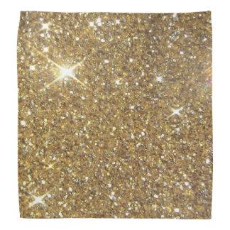 Luxury Gold Glitter - Printed Image Bandana