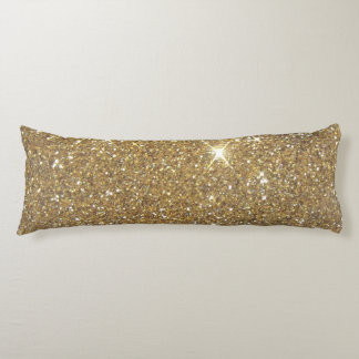 Luxury Gold Glitter - Printed Image Body Cushion