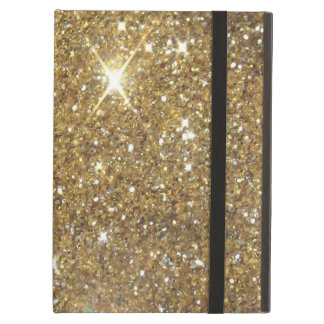 Luxury Gold Glitter - Printed Image Cover For iPad Air