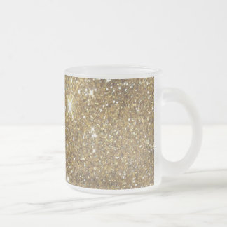 Luxury Gold Glitter - Printed Image Frosted Glass Coffee Mug
