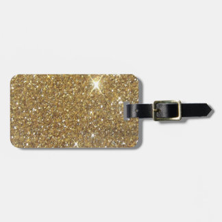 Luxury Gold Glitter - Printed Image Luggage Tag