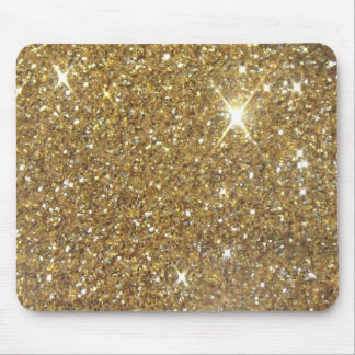 Luxury Gold Glitter - Printed Image Mouse Pad