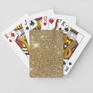 Luxury Gold Glitter - Printed Image Playing Cards