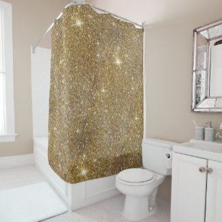 Luxury Gold Glitter - Printed Image Shower Curtain