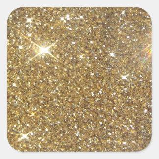 Luxury Gold Glitter - Printed Image Square Sticker