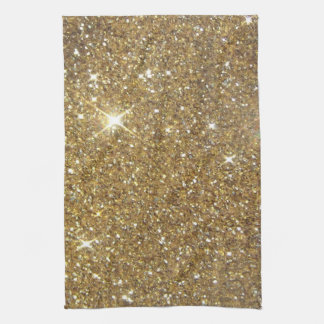 Luxury Gold Glitter - Printed Image Tea Towel
