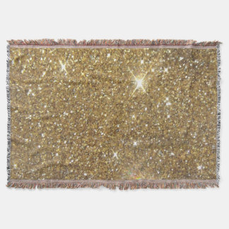 Luxury Gold Glitter - Printed Image Throw Blanket