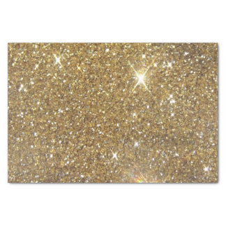 Luxury Gold Glitter - Printed Image Tissue Paper