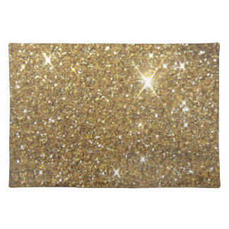 Luxury Gold Glitter Sparkle Place Mat