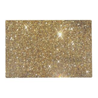 Luxury Gold Glitter Sparkle Laminated Place Mat