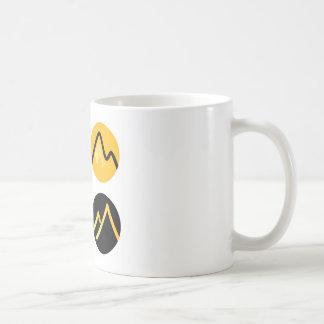 Luxury gold hills on black coffee mug