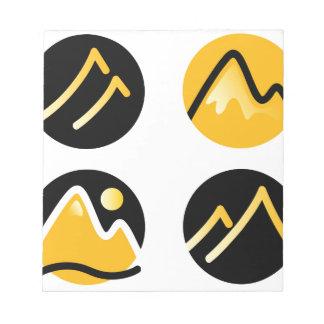 Luxury gold hills on black notepad