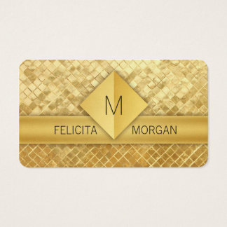 Luxury gold monogram business card templates