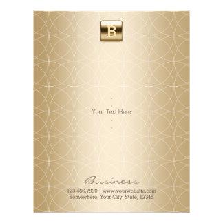 Luxury Gold Monogram Geo Circles Elegant 21.5 Cm X 28 Cm Flyer