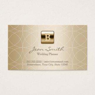 Luxury Gold Monogram Wedding Planner Business Card