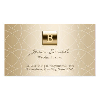Luxury Gold Monogram Wedding Planner Pack Of Standard Business Cards