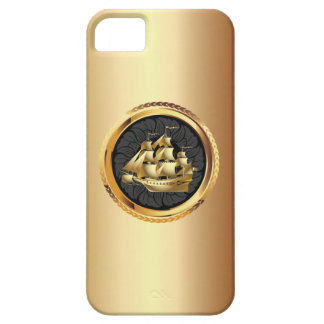 Luxury Gold Sailing Boat iPhone 5 Case