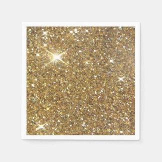 Luxury Gold Sparkling Glitter Disposable Serviette