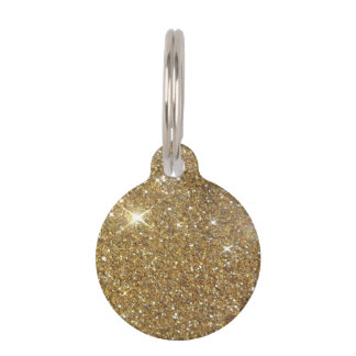 Luxury Gold Sparkling Glitter Pet Tags
