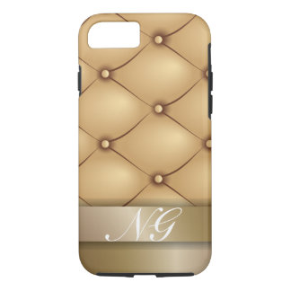 Luxury Gold with Custom Name iPhone 7 Case