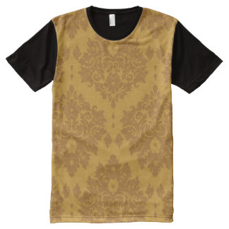 Luxury Golden Damask All-Over Print T-Shirt