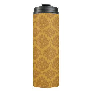 Luxury Golden Damask Thermal Tumbler