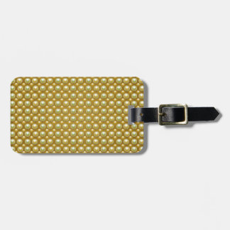 Luxury golden pearls bag tag