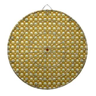 Luxury golden pearls dart board