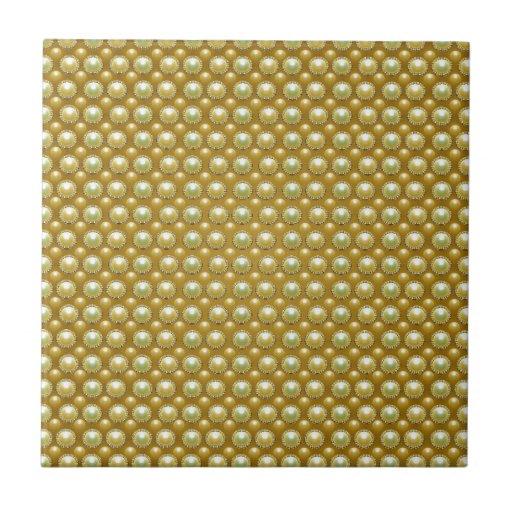 Luxury golden pearls ceramic tile