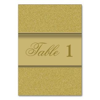 Luxury Golden Texture Elegant Gold Glitter Table Card