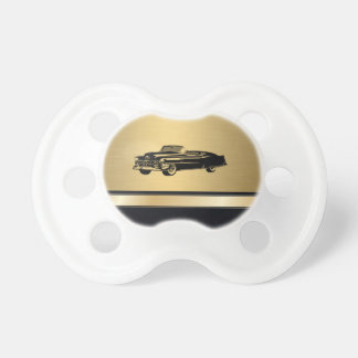 luxury golden  vintage classy old car personalized dummy