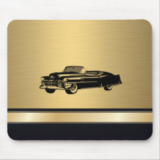luxury golden  vintage classy old car personalized mouse pad