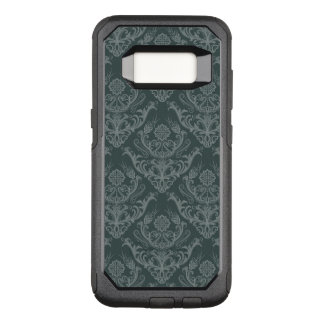 Luxury green floral damask wallpaper OtterBox commuter samsung galaxy s8 case