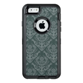 Luxury green floral damask wallpaper OtterBox iPhone 6/6s case